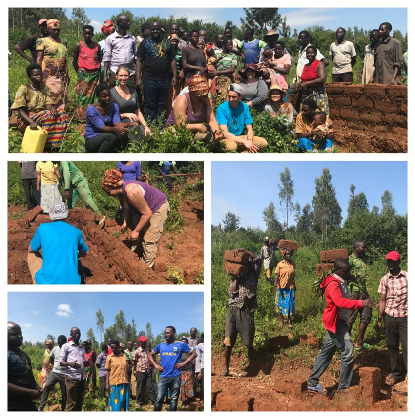 Umuganda in Rwanda: 2019 Peer Support Team helps build a home for widow and her children.